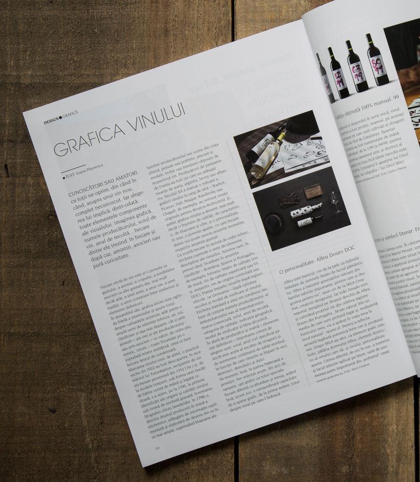 Packaging de vinhos Alfeu em destaque na Revista IGLOO - Roménia