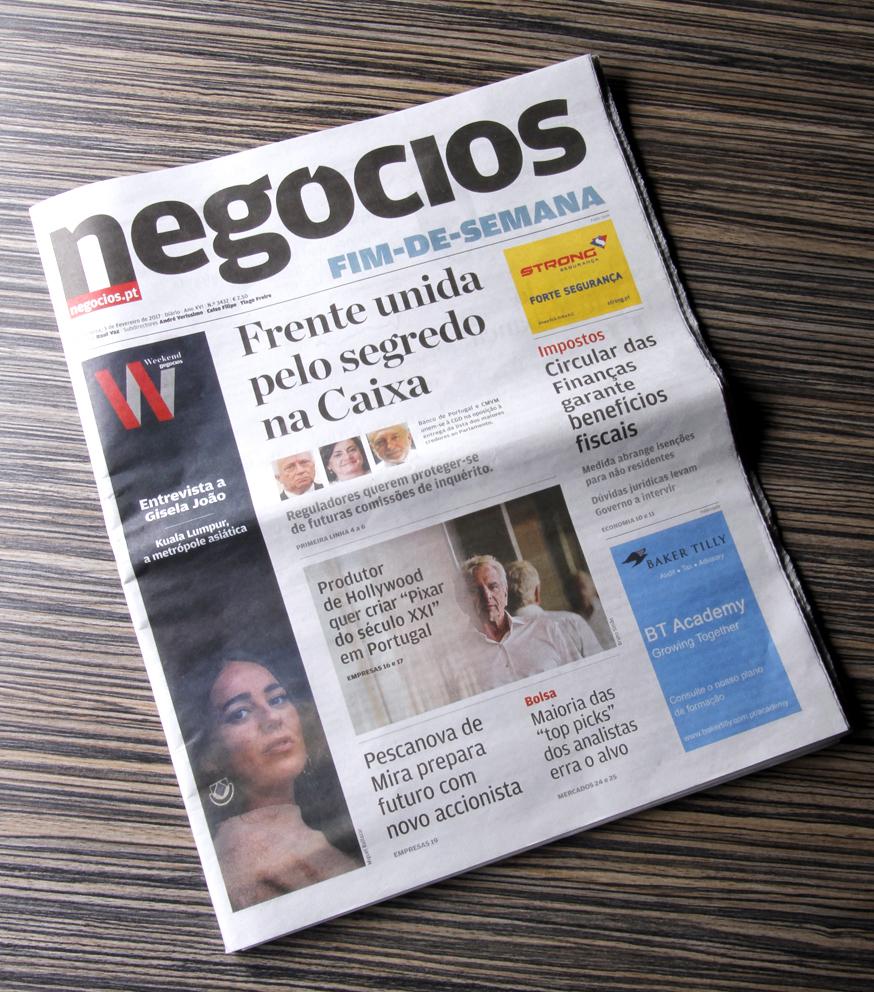 Jornal de Negócios destaca M&A Creative Agency
